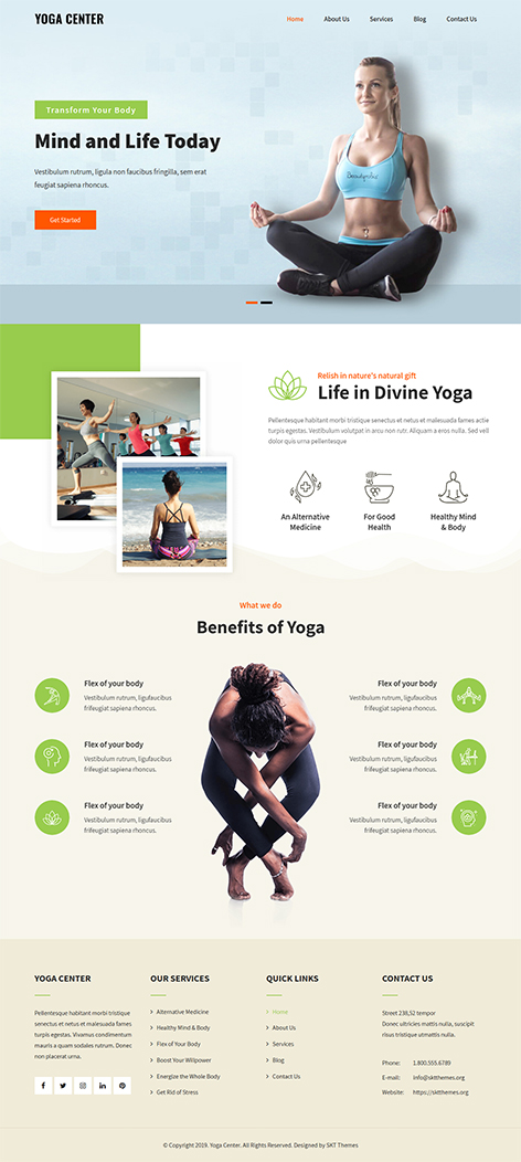 Free Meditation WordPress Theme