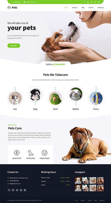 Free Pet Store WordPress Theme