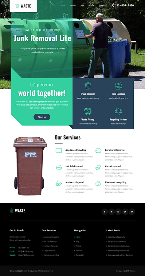 Free Eco Green WordPress Theme