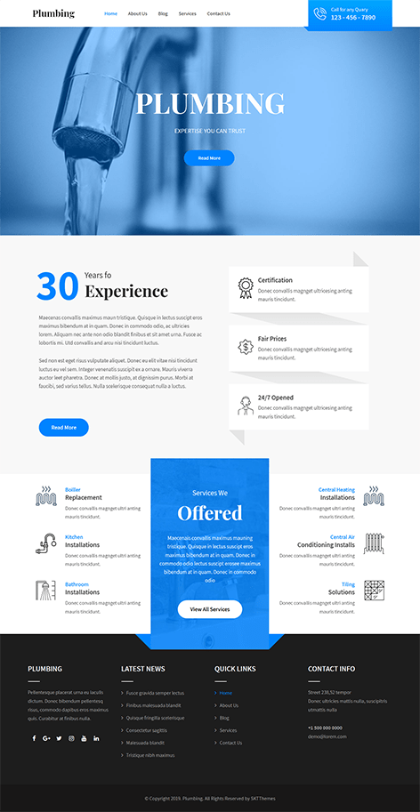 Free Repair WordPress Theme
