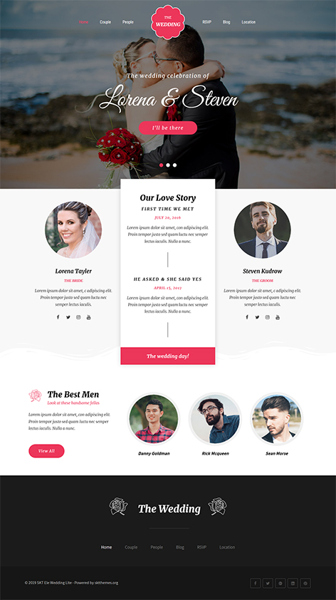 Free marriage bureau WordPress theme