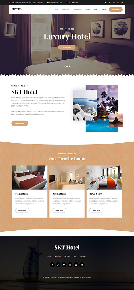 Free resort WordPress theme