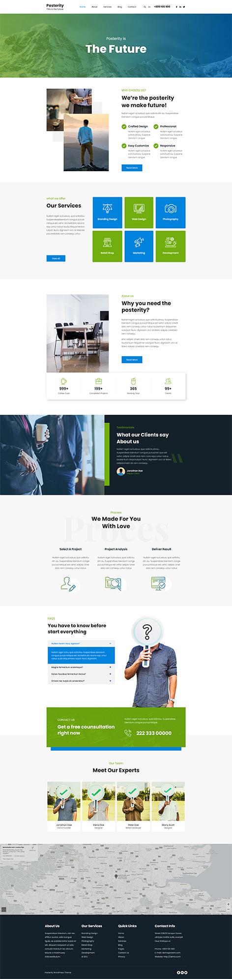 most customizable free WordPress theme