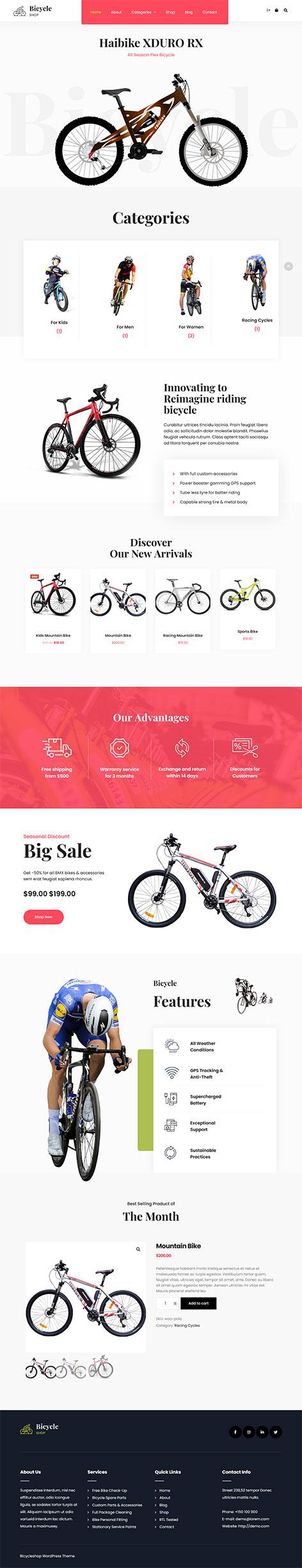 Free cycling WordPress theme