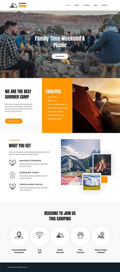 free trekking WordPress theme
